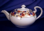 Click here to enlarge image and see more about item AYN033: Aynsley Floral Band Teapot