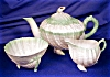 Click to view larger image of Belleek Neptune green tint Tea for Two Set (Image2)