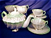 Click to view larger image of Belleek Neptune green tint Tea for Two Set (Image3)