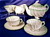 Click to view larger image of Belleek Neptune green tint Tea for Two Set (Image4)