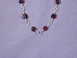 Click to view larger image of Garnet Coin & SS bracelet (Image1)