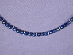 Click to view larger image of Natural Lapis Lazuli & Sterling Silver bracel (Image1)