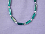 Click to view larger image of Malachite Rectangles & S Silver bracelet (Image1)