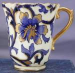 Click to view larger image of Coalport Cobalt & Gold Art Nouveau demi c&s (Image3)