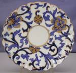 Click to view larger image of Coalport Cobalt & Gold Art Nouveau demi c&s (Image5)