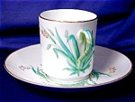 Click here to enlarge image and see more about item ENG037: Copeland green grass Demitasse c&s
