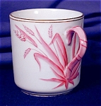 Click here to enlarge image and see more about item ENG047: Copeland pink grass demi cup & saucer
