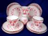 Click to view larger image of Pink & White Relief Molded Dessert Set (Image8)