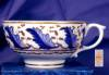 Click to view larger image of Derby Blue Feathers cup & saucer (Image3)