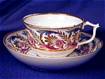 Click here to enlarge image and see more about item ENG065: Derby Wishbone Handle cup & saucer