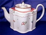 Click to view larger image of New Hall Commode shaped Teapot (Image1)