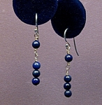 Click to view larger image of Natural Lapis Lazuli & SS Wrapped Loop drops (Image1)