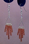 Click here to enlarge image and see more about item ERSD004: SS Triangle & Copper Seed Bead Dangles