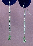 Swarovski Peridot, SS & seed bead earrings