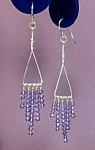 Swarovski Tananzanite Dangles & SS earrings