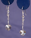 Click to view larger image of SS & Swarovski Crystal Silver Shade Hearts #2 (Image1)