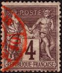 Click here to enlarge image and see more about item France90a: France Sc#90a (1877-1880)