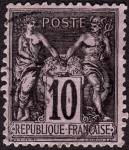 Click here to enlarge image and see more about item France91a: France Sc#91a (1877-1880)