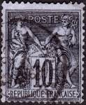 Click here to enlarge image and see more about item France91b: France Sc#91b (1877-1880)