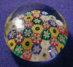Millefiori Style Glass Paperweight
