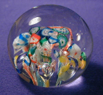 Click here to enlarge image and see more about item GLS016: Colored Swirls Glass Paperweight