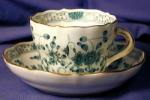Click here to enlarge image and see more about item MEIS001: Meissen demi-tasse cup & saucer