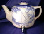 Click here to enlarge image and see more about item MISC035: Hand Painted Teapot Cooler