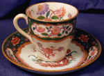 Click here to enlarge image and see more about item MNT001: Minton Hand Painted demi-tasse cup & saucer