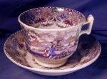 Click here to enlarge image and see more about item MUL001: Mulberry Transfer Breakfast Cup & Saucer