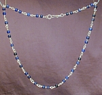 Click here to enlarge image and see more about item NKLL001: Lapis Lazuli & Sterling Silver necklace