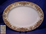 Noritake Platter w/hand painted gilt border