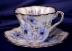 Click to view larger image of Rosina Blue Flowers cup & saucer (Image4)
