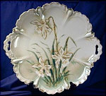Click here to enlarge image and see more about item RSP008: RS Prussia Narcissus cake platter