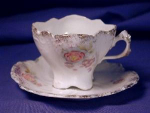 Click here to enlarge image and see more about item RSP021: R.S. Prussia white w/rose demi c&s