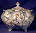 Click to view larger image of R.S. Prussia Narcissus Biscuit Jar (Image1)