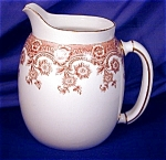 Click here to enlarge image and see more about item RYLWR014z: Royal Worcester brown transfer pitcher