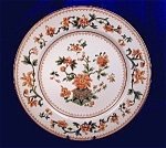Royal Worcester tan & green transfer plate