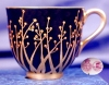 Click to view larger image of Royal Worcester Art Nouveau jeweled demi c&s (Image3)