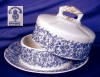 Click to view larger image of Royal Worcester blue floral Covered Butter (Image2)