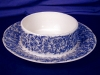 Click to view larger image of Royal Worcester blue floral Covered Butter (Image5)