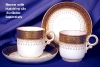 Click to view larger image of Royal Worcester pink interior demitasse c&s (Image7)