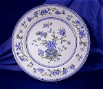 Click here to enlarge image and see more about item RYLWR046: Royal Worcester blue & green transfer plate