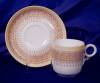 Click to view larger image of Royal Worcester yellow & tan demitasse set (Image3)