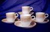 Click to view larger image of Royal Worcester yellow & tan demitasse set (Image6)