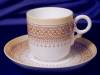 Click to view larger image of Royal Worcester yellow & tan demitasse set (Image2)