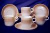 Click to view larger image of Royal Worcester yellow & tan demitasse set (Image8)