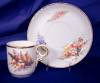 Click to view larger image of Royal Worcester Floral hand painted demi c&s (Image2)