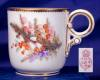 Click to view larger image of Royal Worcester Floral hand painted demi c&s (Image3)
