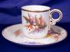 Click to view larger image of Royal Worcester Floral hand painted demi c&s (Image8)