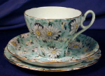 Click to view larger image of Shelley Green Daisy Chintz Cambridge trio (Image1)